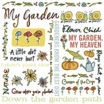 Karen Foster Design - Rub Ons - In the Garden Collection - My Garden, CLEARANCE