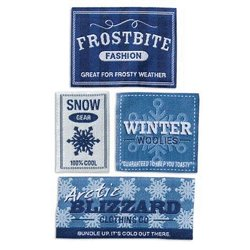 Karen Foster Design - Fun in the Snow Collection - Shirt Labels - Wintertime, CLEARANCE