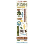 Karen Foster Design - Fishing Collection - Clear Stickers - Love to Fish