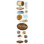 Karen Foster Design - Cat Collection - Clear Stickers - Cool Kitty, CLEARANCE
