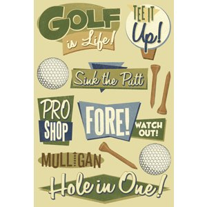 Karen Foster Design - Golf Collection - Sticker - Golf
