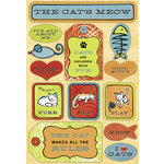 Karen Foster Design - Cool Cat Collection - Sticker - Cat's Meow