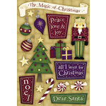 Karen Foster Design - Holly Jolly Christmas Collection - Sticker - Magic of Christmas, CLEARANCE