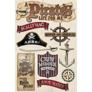 Karen Foster Design - Pirate's Life Collection - Sticker - Pirate's Life