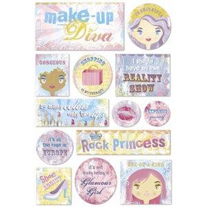 Karen Foster Design - Stickers - Diva Collection - Make Up Dress Up Diva, CLEARANCE