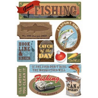 Karen Foster Design - Fishing Collection - Cardstock Stickers - Gone Fishing