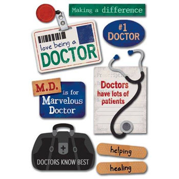 Karen Foster Design - Stickers - Public Heroes Collection - Doctors