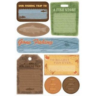 Karen Foster Design - Fishing Collection - Cardstock Stickers - Fishing Trip Journal