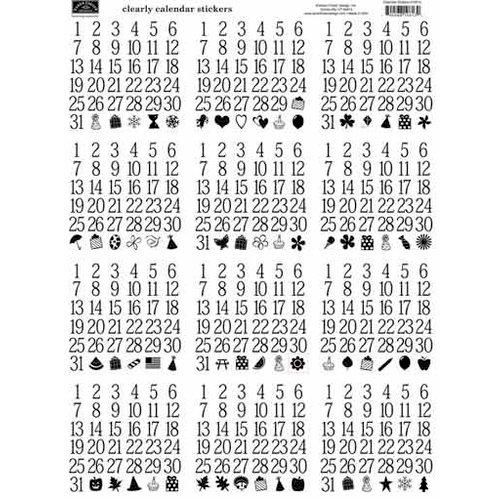 Karen Foster Design - Calendar Collection - Clear Stickers - Calendar