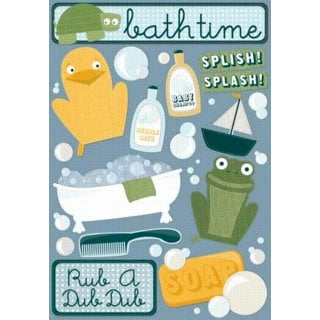 Karen Foster Design - Bath Time Collection - Cardstock Stickers - Bath Time