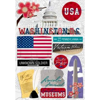 Karen Foster Design - Destination Stickers - Washington DC