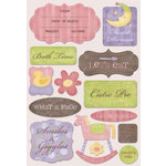Karen Foster Design - Baby Girl Collection - Stickers - Smiles and Giggles
