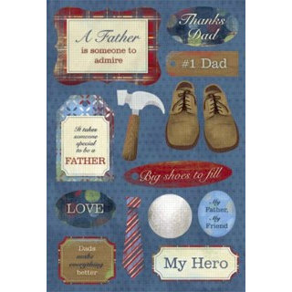 Karen Foster Design - Father Collection - Cardstock Stickers - Number 1 Father