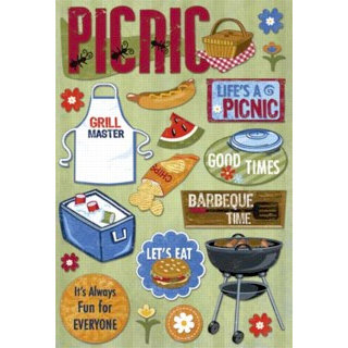 Karen Foster Design - Picnic Family Reunion Collection - Cardstock Stickers - Life's a Picnic