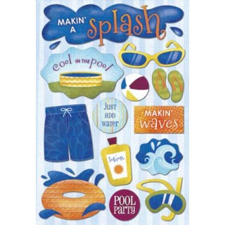 Karen Foster Design - Water Fun Collection - Cardstock Stickers - Makin a Splash