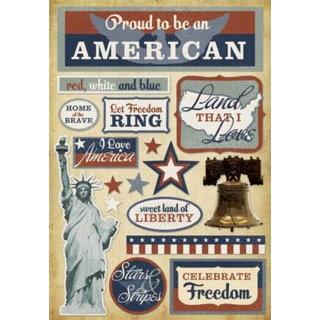 Karen Foster Design - Patriotic Collection - Cardstock Stickers - American Pride