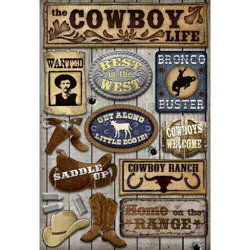 Karen Foster Design - Cowboy Collection - Cardstock Stickers - Cowboy Life