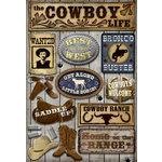 Karen Foster Design - Cowboy Collection - Cardstock Stickers - Cowboy Life