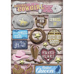 Karen Foster Design - Cowgirl Collection - Cardstock Stickers - Cowgirl