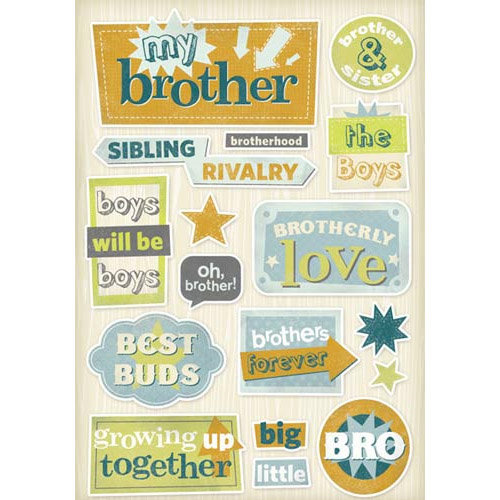 Karen Foster Design - Brother Collection - Cardstock Stickers - Brothers Forever