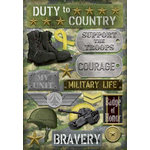 Karen Foster Design - Military Collection - Cardstock Stickers - Military Life