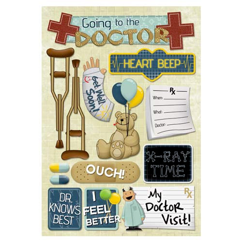 Karen Foster Design - Doctor Visit Collection - Cardstock Stickers - My Doctor Visit