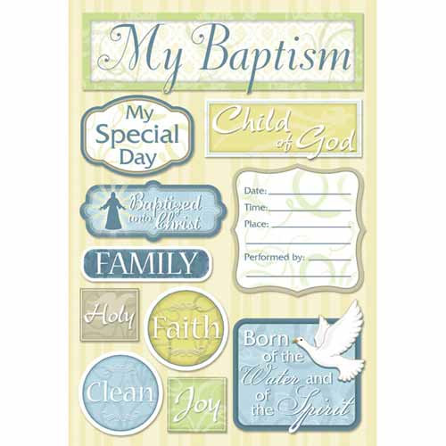 Karen Foster Design - Baptism Collection - Cardstock Stickers - My Baptism