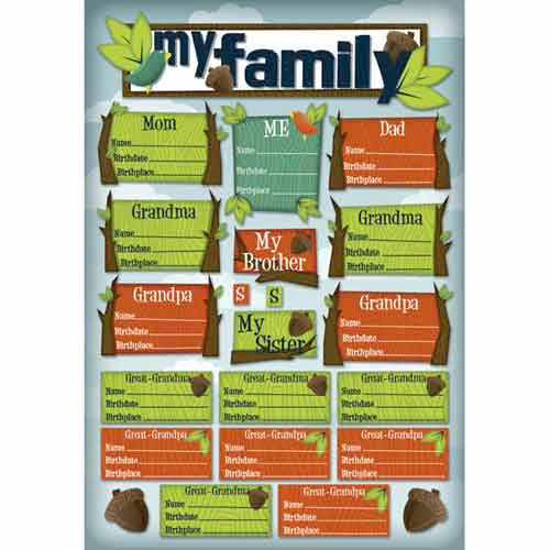 Karen Foster Design - Kids' Ancestry Collection - Cardstock Stickers - My Roots