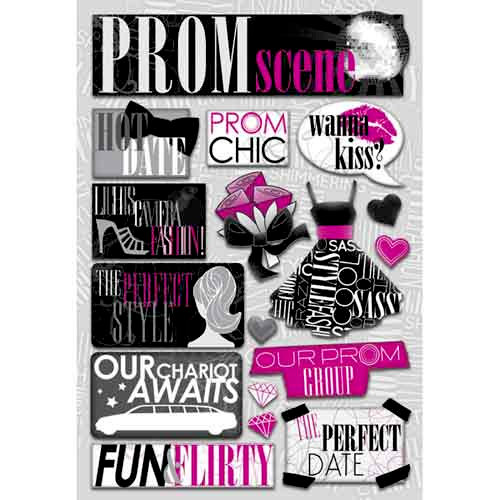 Karen Foster Design - Prom Collection - Cardstock Stickers - The Prom