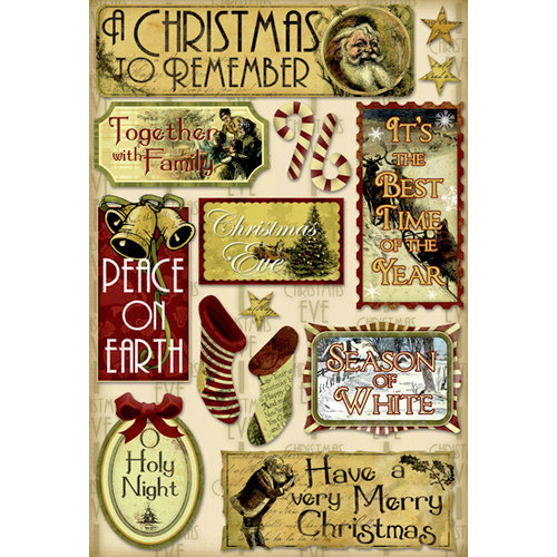 Karen Foster Design - Vintage Christmas Collection - Cardstock Stickers - Holy Night