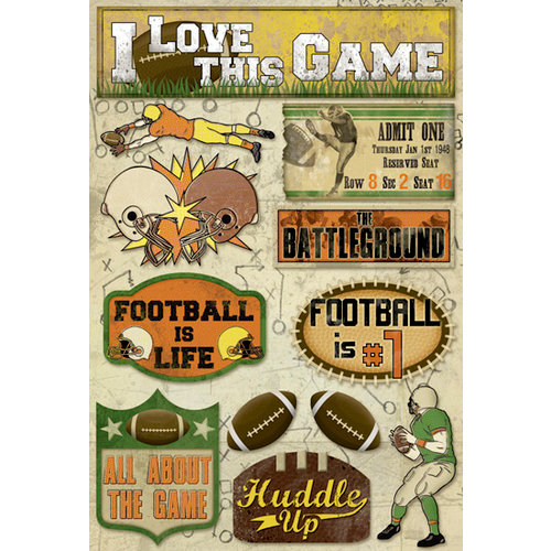 Karen Foster Design - Football Collection - Cardstock Stickers - Huddle Up