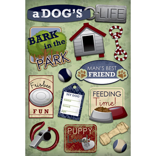 Karen Foster Design - Dog Collection - Cardstock Stickers - Man's Best Friend