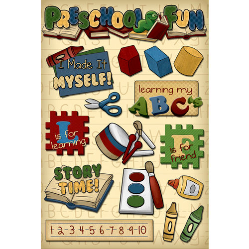 Karen Foster Design - Preschool Collection - Cardstock Stickers - Preschool Fun