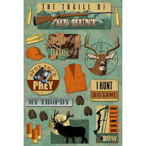 Karen Foster Design - Hunting Collection - Cardstock Stickers - My Trophy