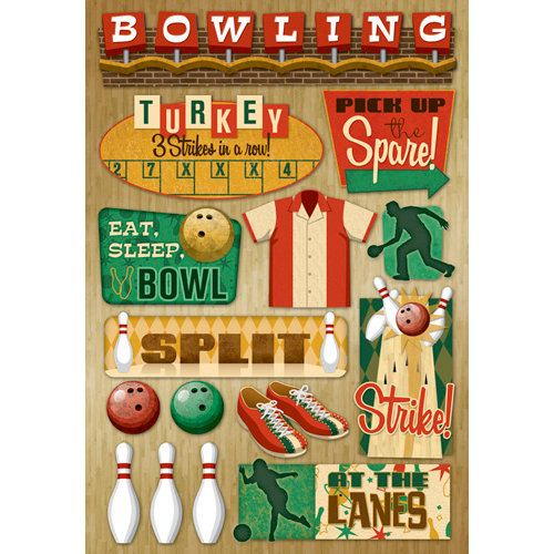 Karen Foster Design - Cardstock Stickers - At The Lanes
