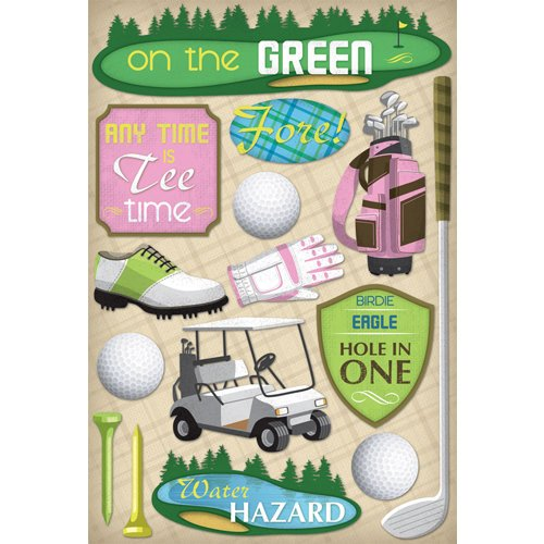 Karen Foster Design - Golf Collection - Cardstock Stickers - Women's Tee Time