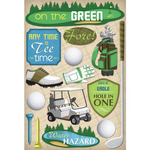 Karen Foster Design - Golf Collection - Cardstock Stickers - Men's Tee Time