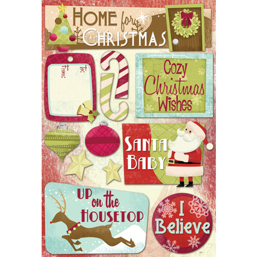 Karen Foster Design - Christmas Collection - Cardstock Stickers - Cozy Christmas