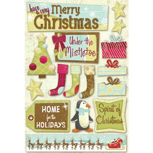 Karen Foster Design - Christmas Collection - Cardstock Stickers - Under the Mistletoe