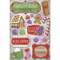 Karen Foster Design - Christmas Cooking Collection - Cardstock Stickers - Christmas Sweets