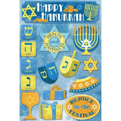Karen Foster Design - Hanukkah Collection - Cardstock Stickers - Hanukkah