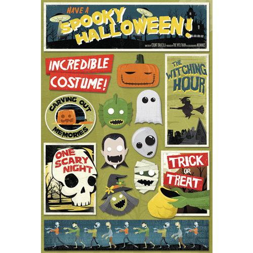 Karen Foster Design - Halloween Collection - Cardstock Stickers - Spooky Halloween