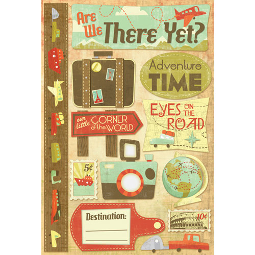 Karen Foster Design - Travel Collection - Cardstock Stickers - Are We There Yet?