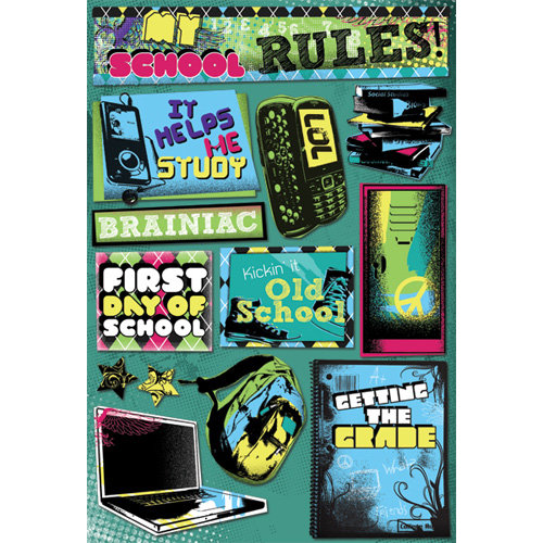 Karen Foster Design - School Collection - Cardstock Stickers - My School Rules