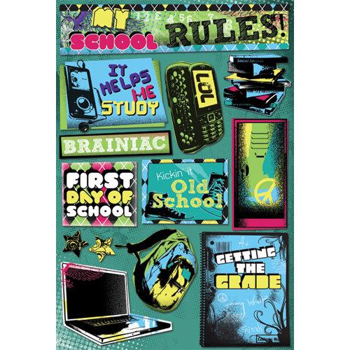Karen Foster Design - School Collection - Cardstock Stickers - My School Rules