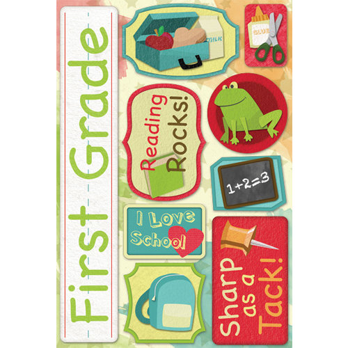 Karen Foster Design - Grade School Collection - Cardstock Stickers - First Grade