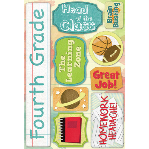 Karen Foster Design - Grade School Collection - Cardstock Stickers - Fourth Grade