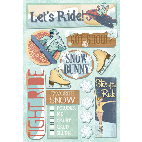 Karen Foster Design - Winter Sports Collection - Cardstock Stickers - Snow Bunny