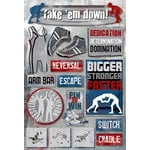 Karen Foster Design - Wrestling Collection - Cardstock Stickers - Take 'Em Down