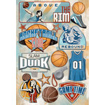 Karen Foster Design - Basketball Collection - Cardstock Stickers - Above The Rim